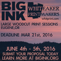 Create a large woodcut with BIG INK at Whiteaker Printmakers