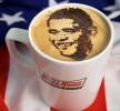 Barack Obama Coffee Art