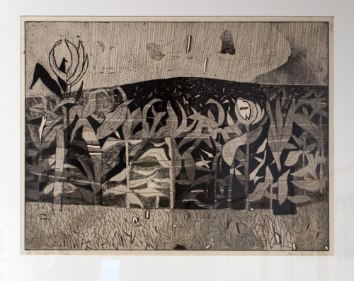 The Cornfield by Harry Brorby, 1951, intaglio