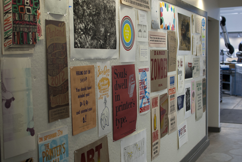The print wall in the pass-through
