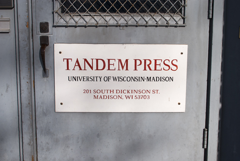The current but soon to be former house of Tandem Press. The press will be moving locations in mid-summer.