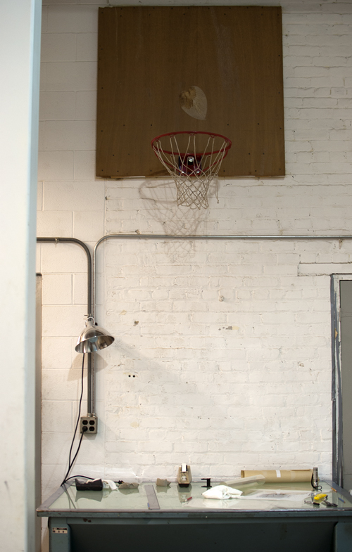 The perfect place for a basketball hoop. I like to place mine above my china set.