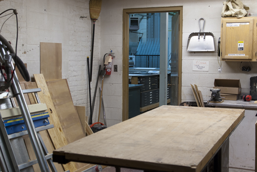 Half of the frame shop/wood cutting room