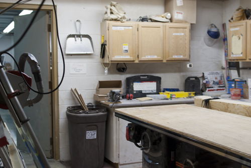 The other half of the frame shop/wood cutting room