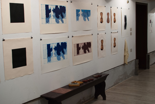 A portion of David Faber's exhibition at the Scuola.