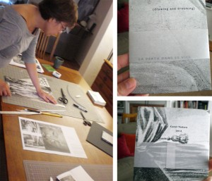 Book Artist, Carol Todaro, prepares a France-inspired pamphlet to release at the 12-hour reading of the French poet Apollinaire.