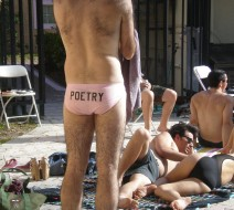 The O,Miami pool party and poetry reading held at the Edgewater Poetry & Athletics Club. How very hip.