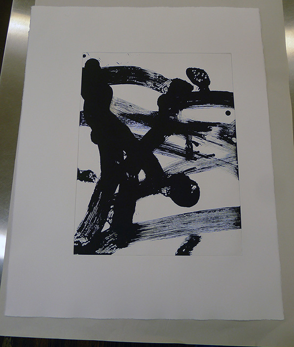 Test print from copperplate etching.