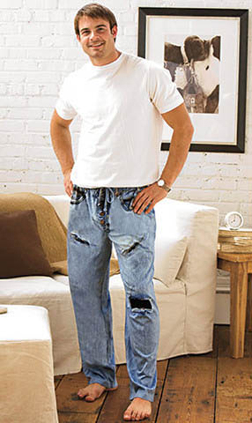032 pajama jeans for men