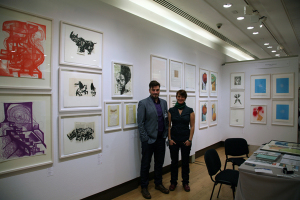 Ulrich and Sarah from Keystone Editions, Berlin.