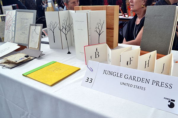 Jungle Garden Press table display from the USA