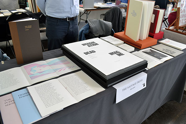 The Salvage Press table display from Ireland