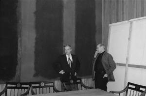 John Coolidge and Mark Rothko in the Penthouse.